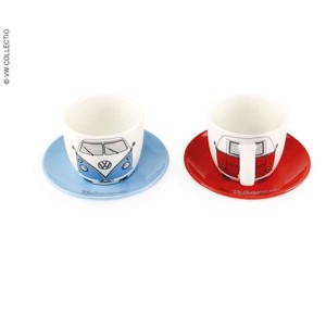 VW Collection Espresso Cups, set of 2, Bulli front