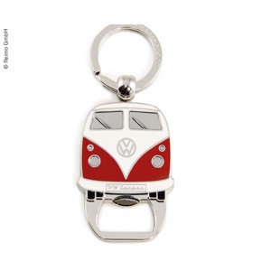 VW Collection key ring with bottle opener, red