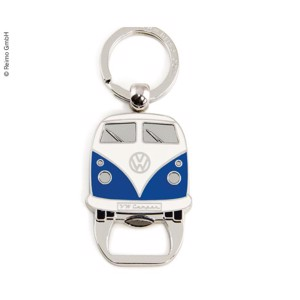 VW Collection key ring with bottle opener, blue