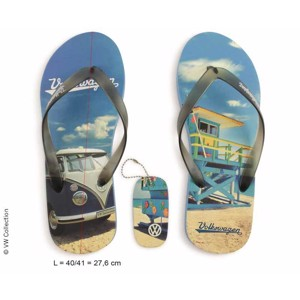 VW Collection T1 Bus toe separator, Beachlife blue, size 42/43