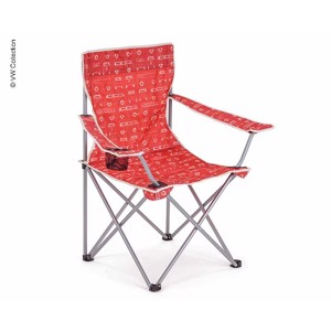 Folding Camping Chair, VW Collection VW T1, red