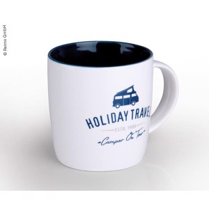 "Cup ""HOLIDAY TRAVEL"" made of high quality New Bone China for 340ml"