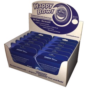 HappyBowl WC liner eyeglass protection