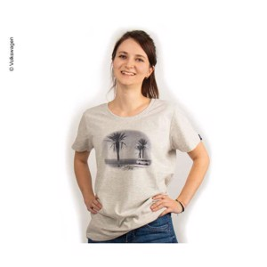 T-Shirt ladies VW size 34, light grey-melange, 100% cotton