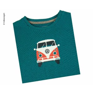 "T-Shirt KIDS ""Bulli Front ""VW, size 116/122,100% cotton petrol blue"