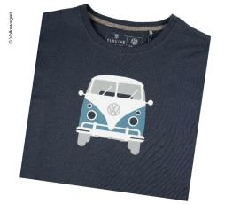 "T-Shirt Men ""Bulli Front"" VW, size M, dark blue, 100% cotton"