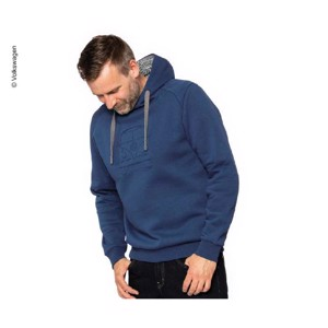 Hooded sweatshirt VW Bulli, size L, dark blue, 65% cotton/35% polyester