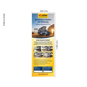 Poster motive: T5 Multirail Adapter Thule, German, dimensions 42x120cm