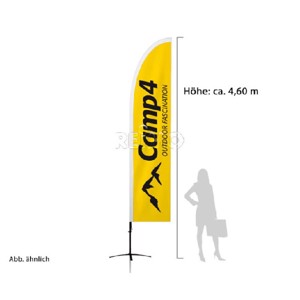 Camp4-Squareflag complete system, height 460cm