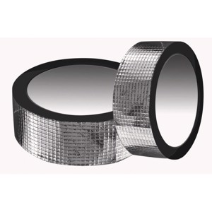 Fabric tape 50mm x 50m silver