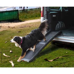 Dog ramp ZORA up to 120kg, material PP, black
