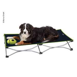 Dog bed / dog couch, foldable 122x62 cm black-lime