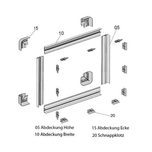 Replacement corner covers for S4 sliding windows