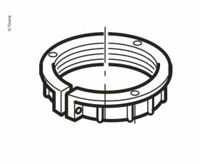 Screw ring for chimney part
