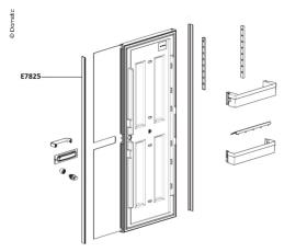 Cover strip door black