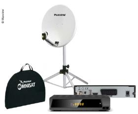 Portable Satellite Kit 65cm with Easy-Find LNB and Receiver