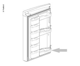 Door compartment refrigerator N3115