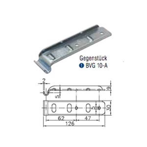 Winterhoff counterpart side plate lock BVG 10-A