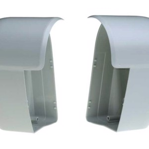 End cap for Omnistor 6002, left and right, 1 pair, silver coloured